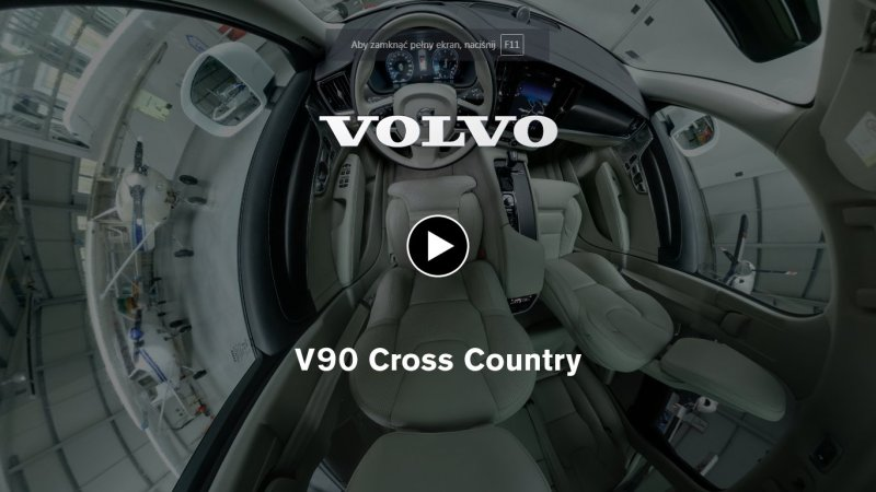 Volvo V90 Cross Country wirtualny spacer
